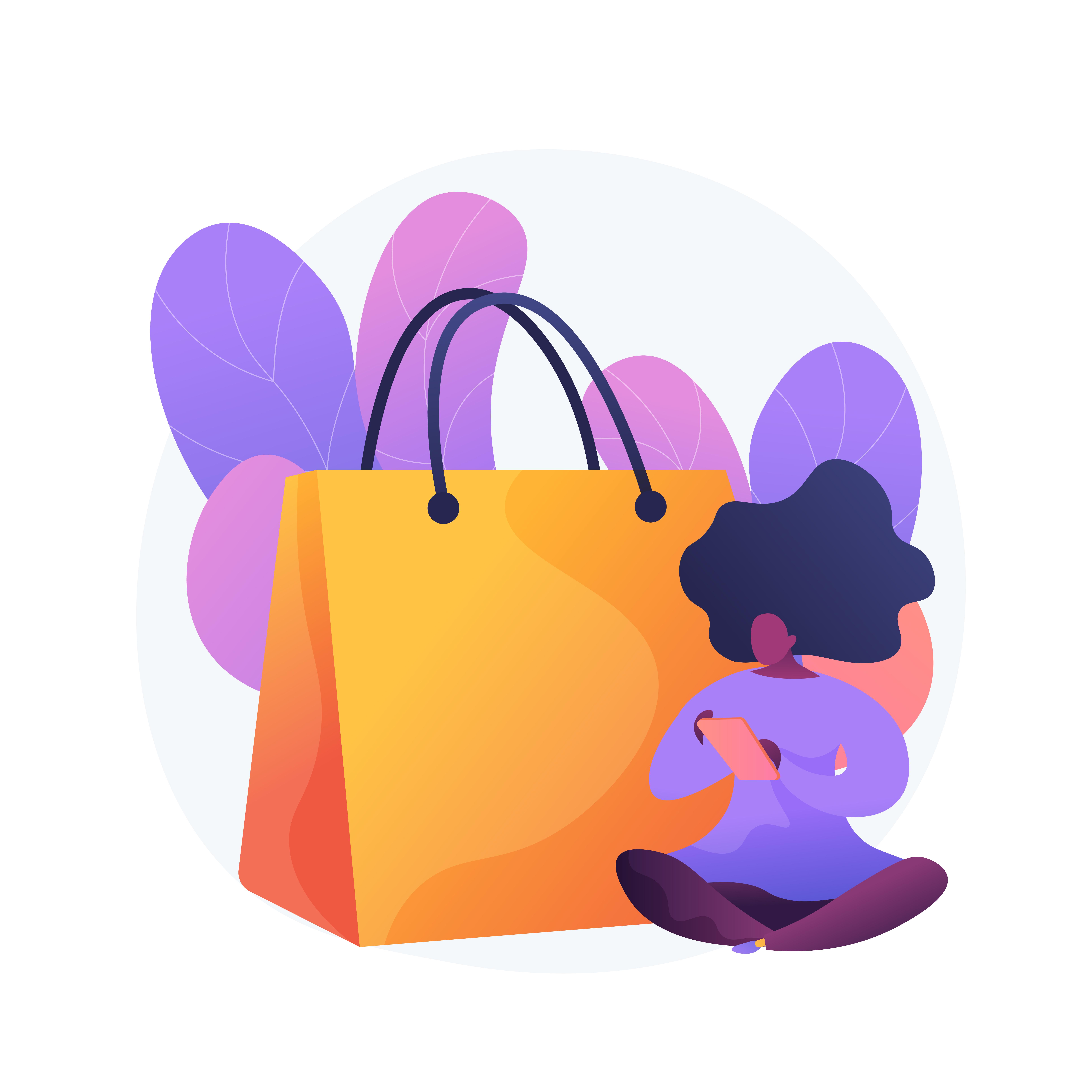 Shopping addiction vector concept metaphor